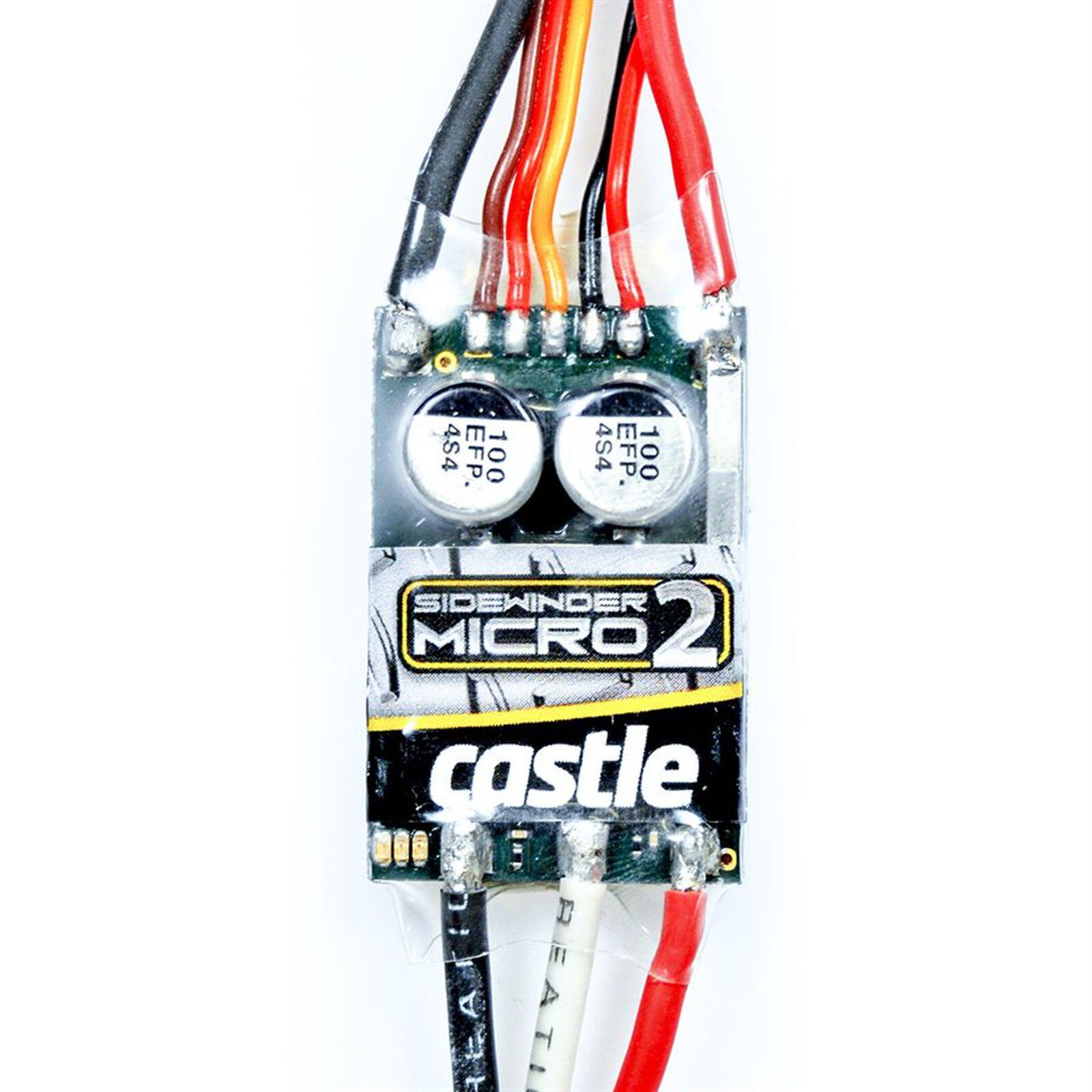 1/18 Sidewinder Micro 2 ESC, 12.6V, 2A Peak BEC