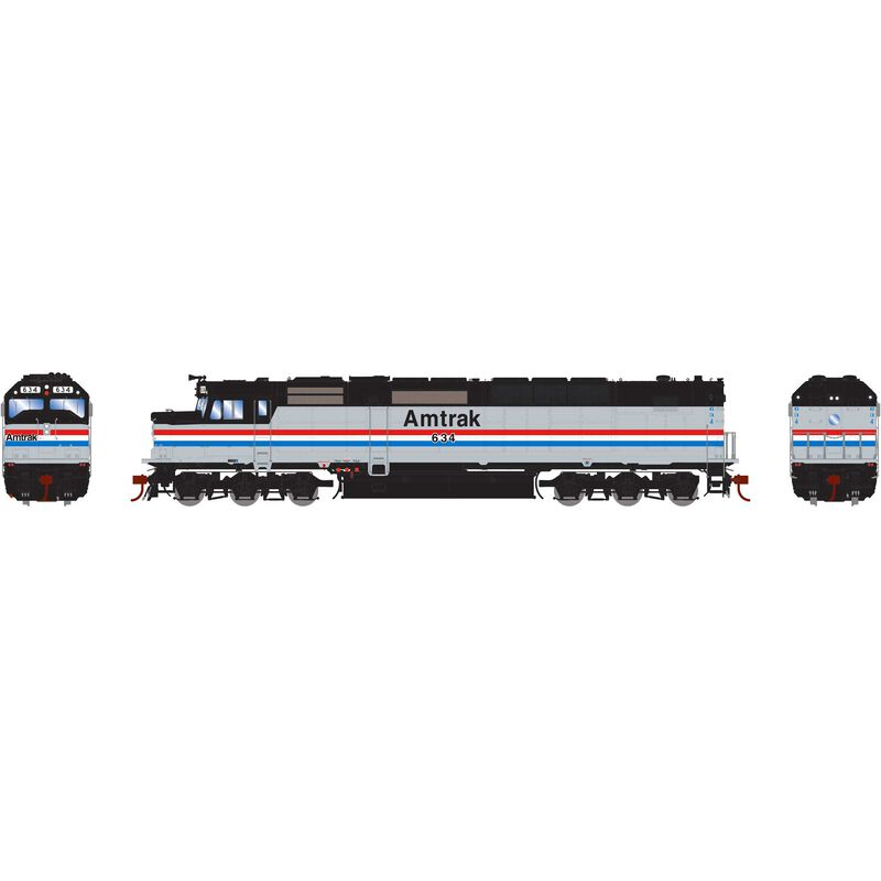 HO SDP40F with DCC & Sound Amtrak #634