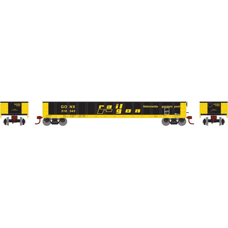HO RTR 52' Mill Gondola GONX RailGon #310343