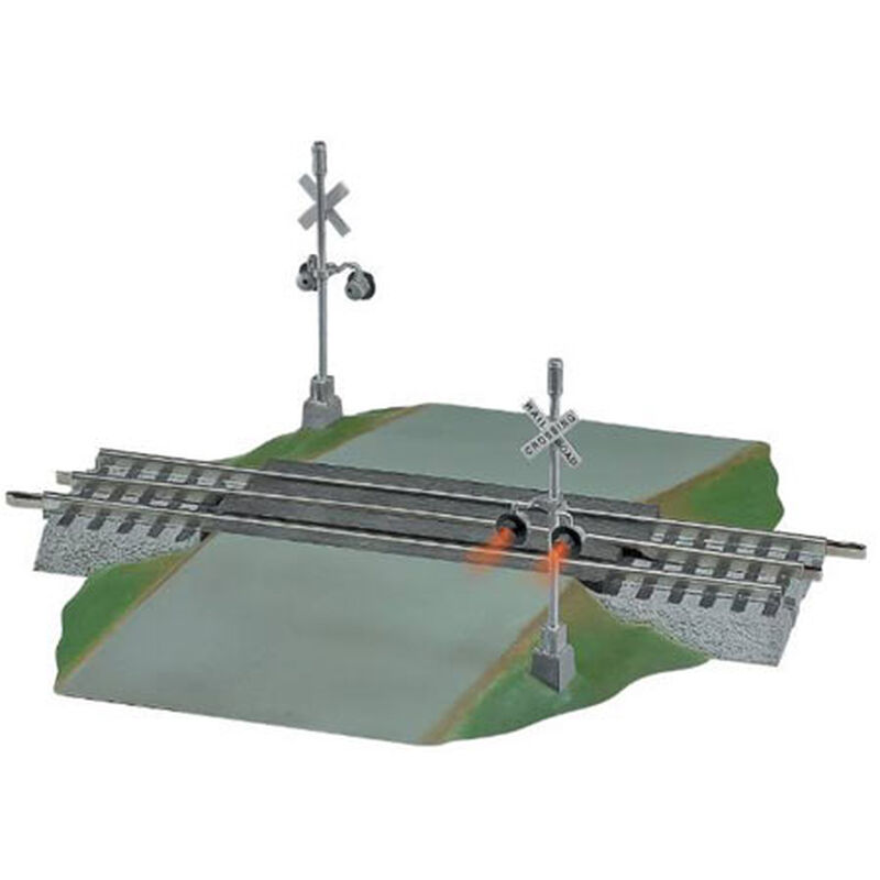 O FasTrack Grade Crossing w/Flashers