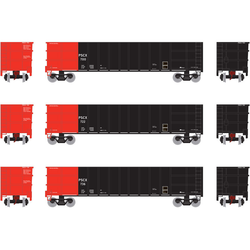 HO RTR Thrall High Side Gondola with Load PSCX #3 (3)