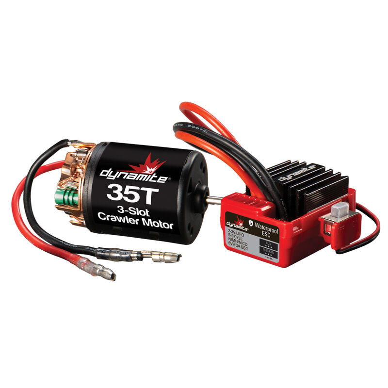Brushed Crawler Motor/ESC Combo, 35T: 3.5mm Bullet, EC3