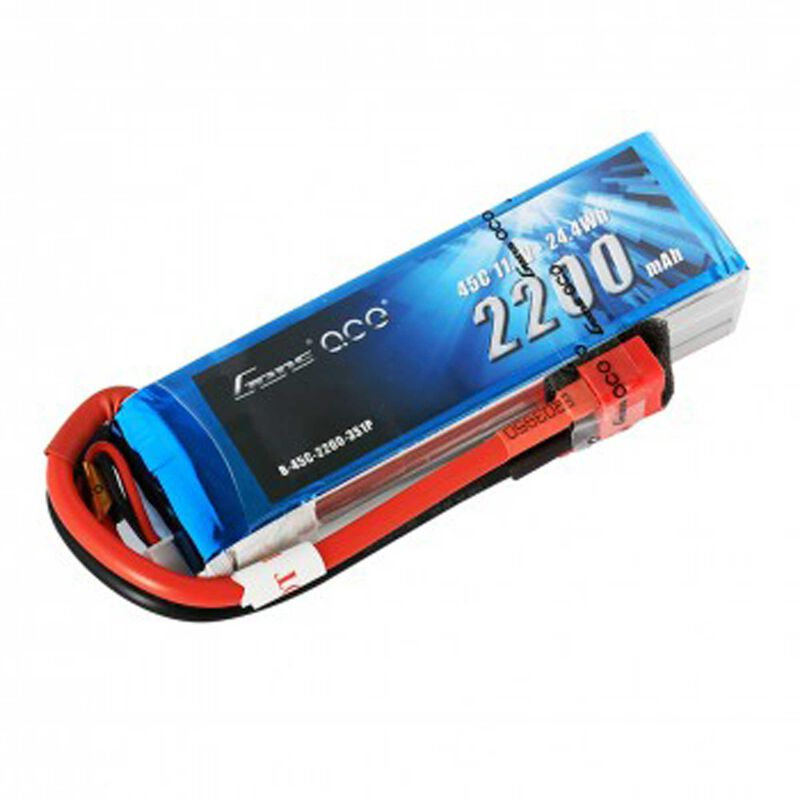 11.1V 2200 Capacity 3S Voltage 45C LiPo, Deans