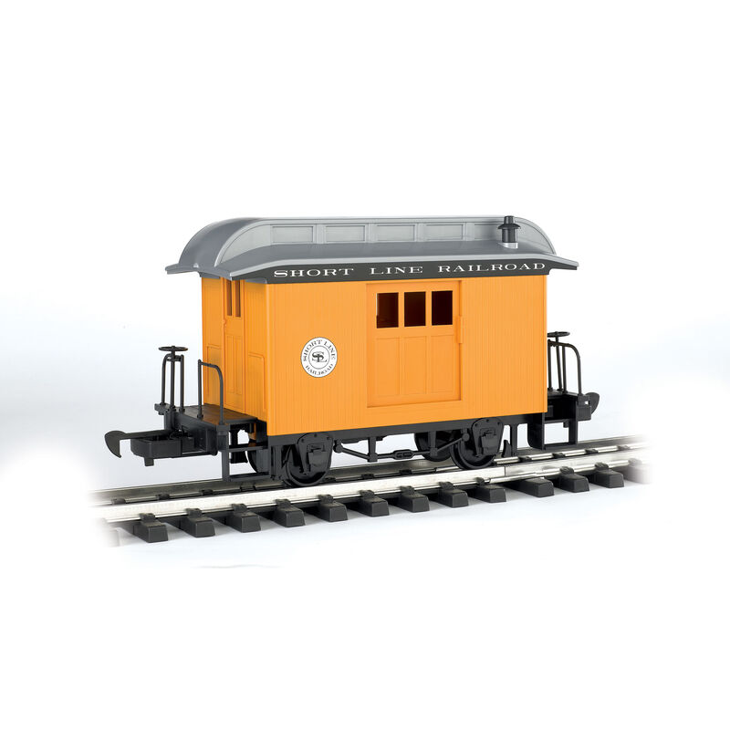G Li'l Big Haulers Baggage Car, Short Line/Yellow