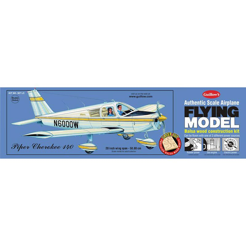 Piper Cherokee 140 Laser Cut Kit, 20""
