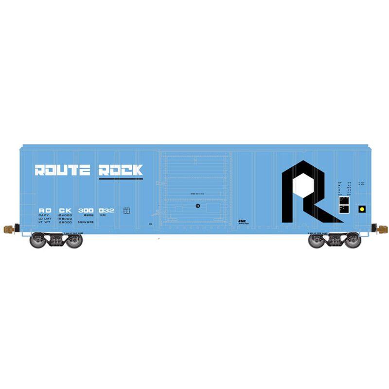 HO FMC 5347 Single Door Box RI Route Rock #300077