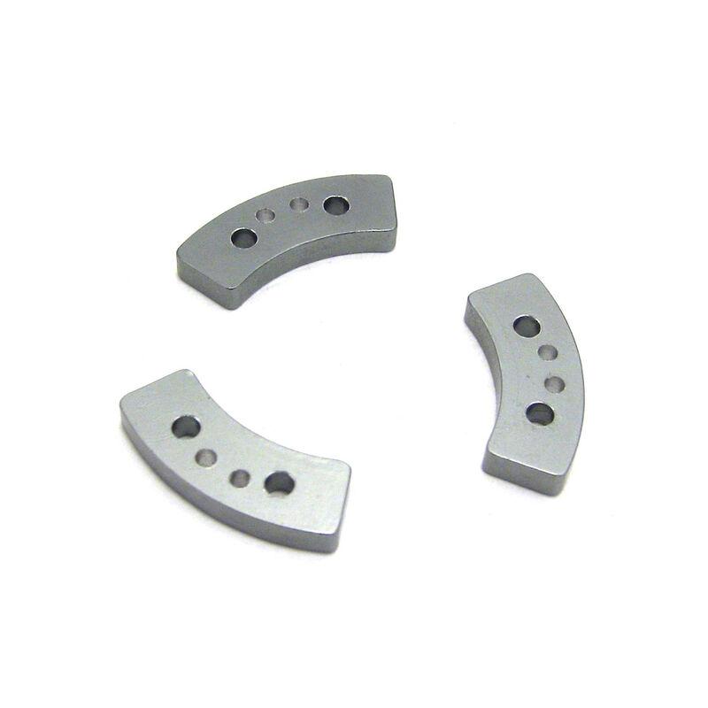 Aluminum Hard Anodized Long Slipper Clutch Pads (3): TRA