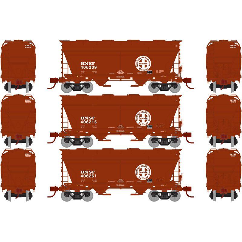 HO RTR ACF 2970 Covered Hopper  BNSF Brown  (3)