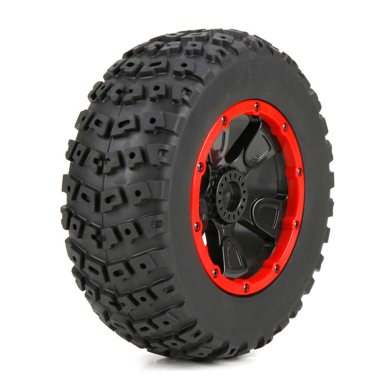 1/5 Left & Right Front/Rear 4.75 Pre-Mounted Tires, 24mm Hex (2): DB XL