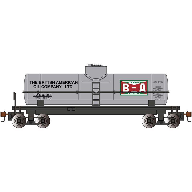 HO 40' 1-Dome Tank British American Oil Silver