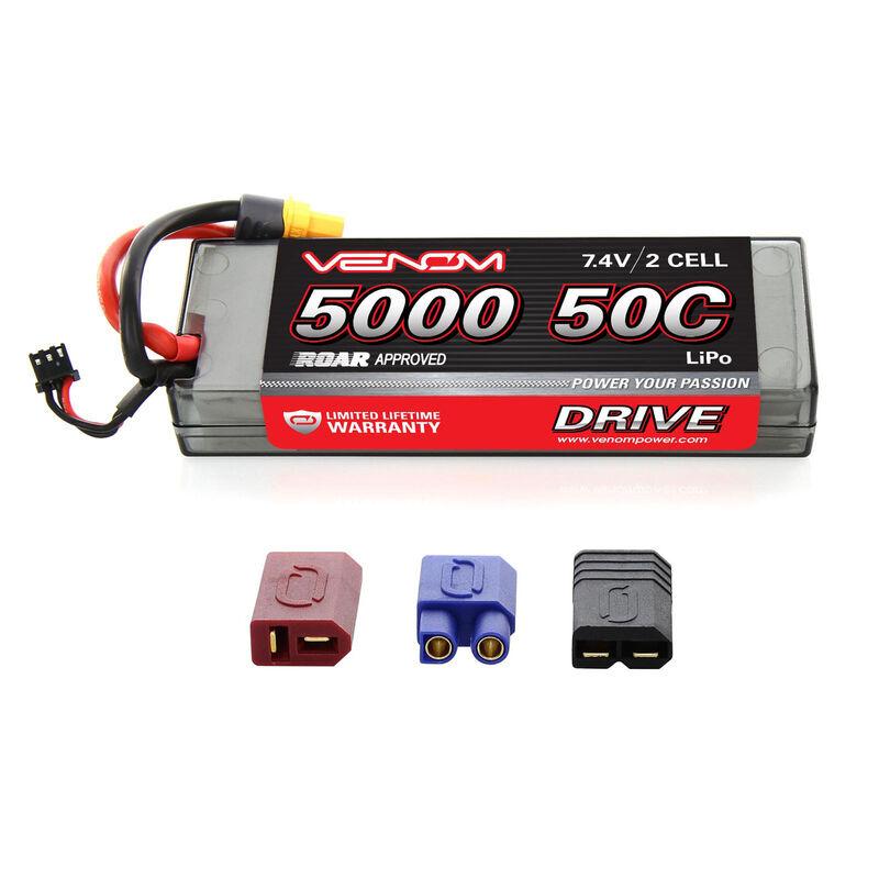 7.4V 5000mAh 2S 50C DRIVE Sport Power LiPo Battery: UNI 2.0 Plug