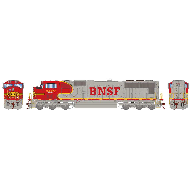 HO SD75M BNSF Warbonnet #8260