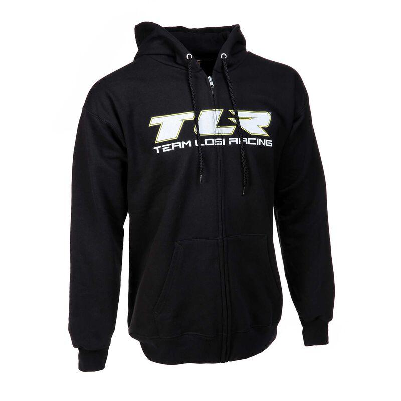 Zip Black Hoodie, Large