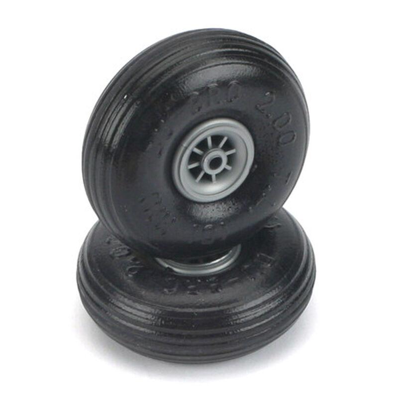 """Treaded Lite Wheels, 2-1/4"""" (2)"""