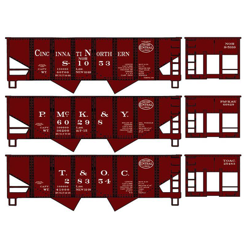HO KIT USRA 55-Ton Twin Hopper NYC Subsidiary (3)