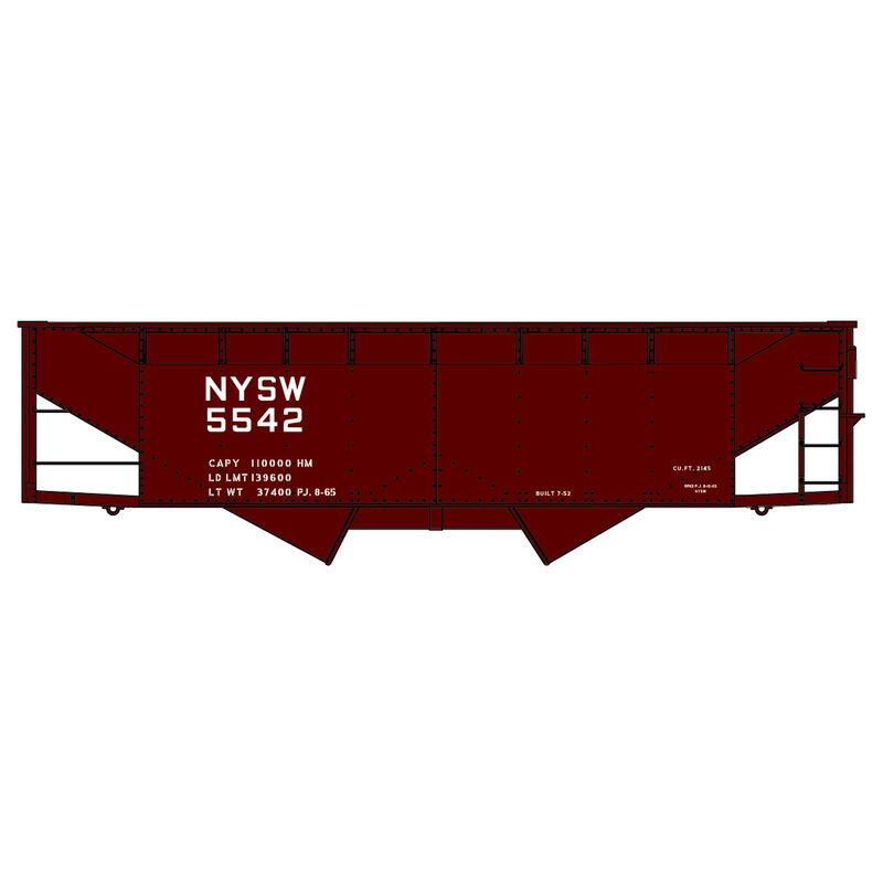 HO KIT 50-Ton Offset Twin Hopper NYS&W