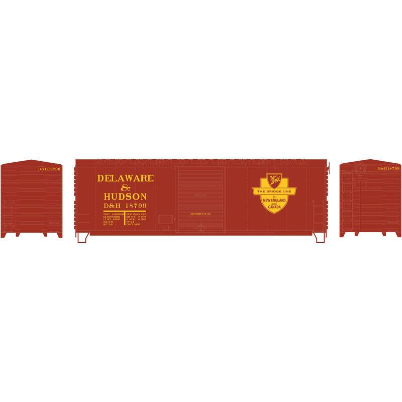 HO RTR 40' Modernized Box D&H #18799