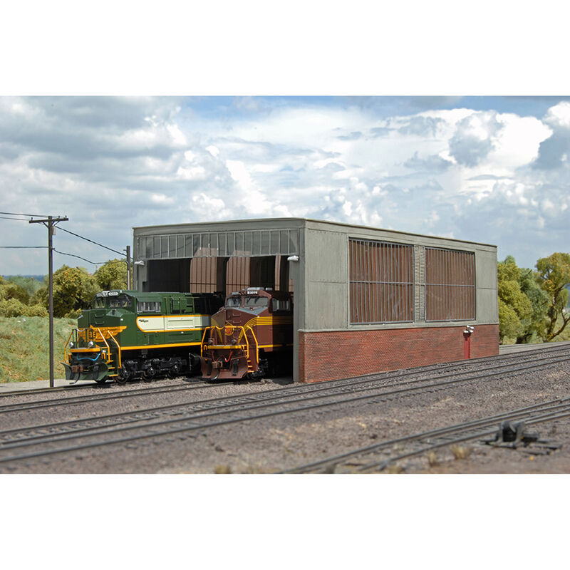 HO Double Stall Shed