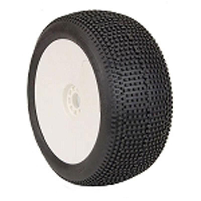 1/8 IMPACT EVO Super Soft Longwear Front/Rear Wheel, White: Truggy (2)
