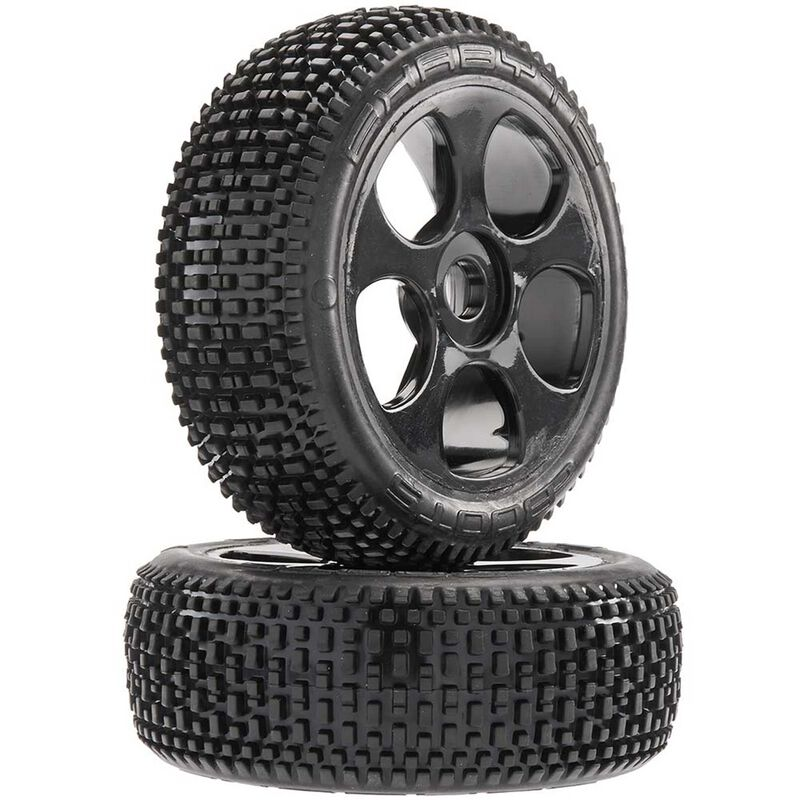 1/8 Exabyte BGY 6S Front/Rear 3.8 Pre-Mounted Tires, 17mm Hex, Black (2)