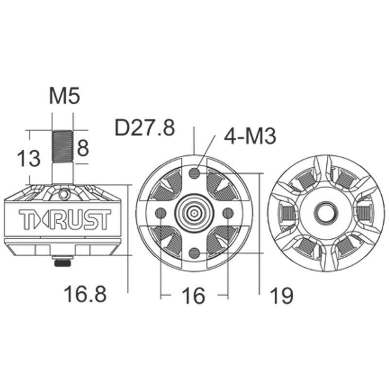 Thrust 2205-2050Kv FPV Racing Motor