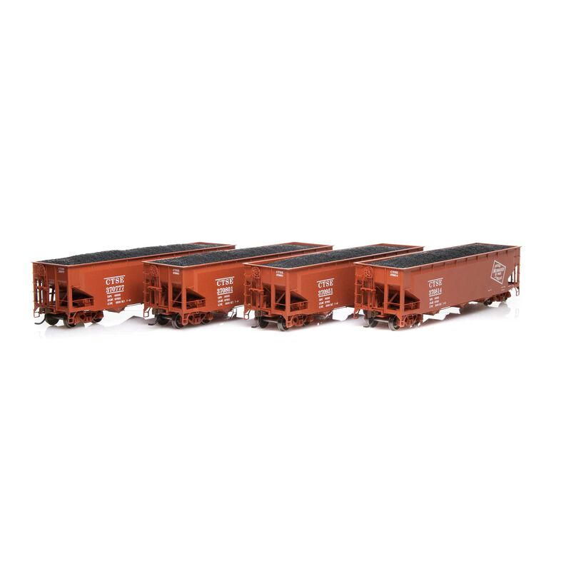 HO RTR 40' 3-Bay Offset Hopper with Load MILW #2 (4)