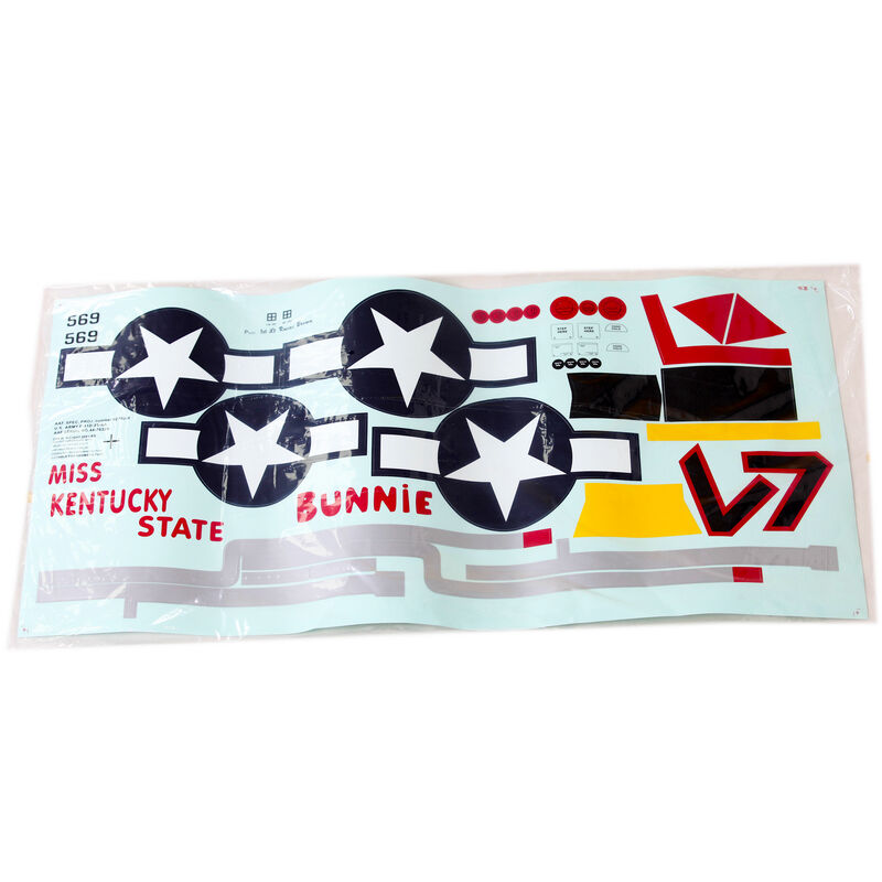 Decal Sheet: P51D Red Tail 1700mm
