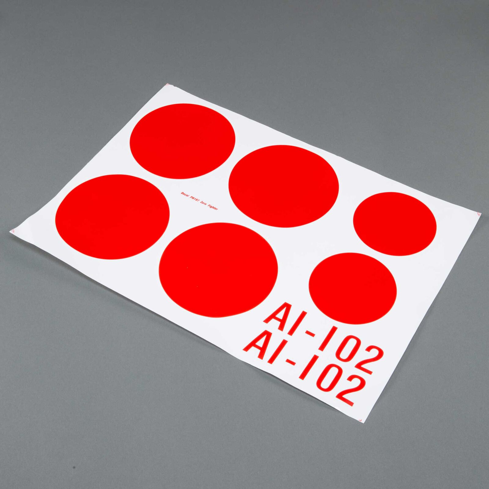 """Decal Sheet: ZERO A6M EP/GP .46-.55 ARF 55"""""""