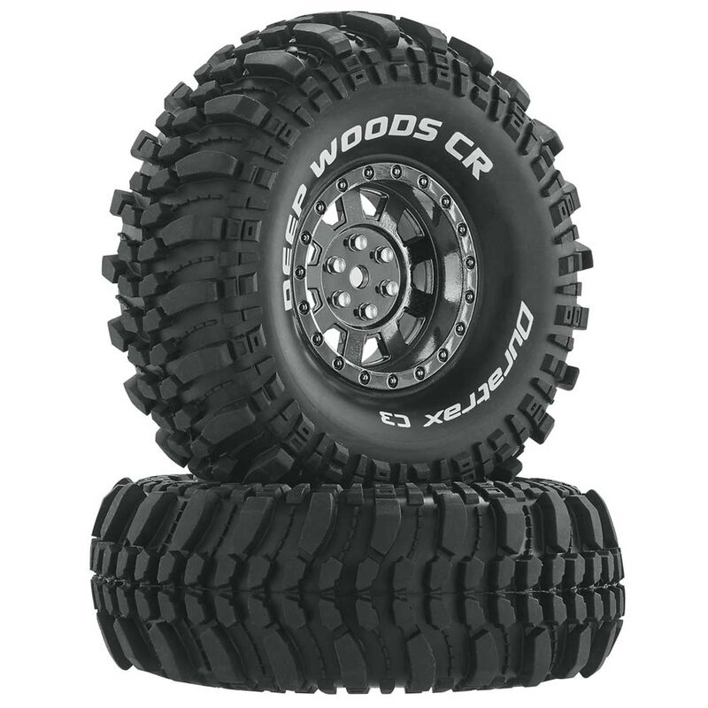 "Deep Woods CR C3 Mounted 1.9"" Crawler Tires, Chrome (2)"