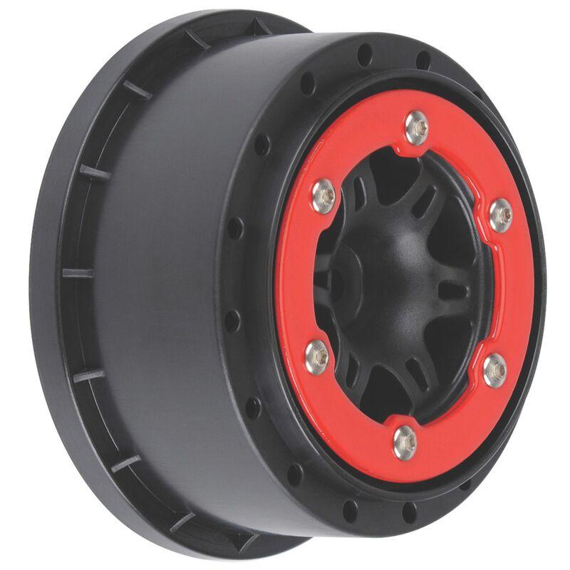 Sixer 2.2/3.0 Red/Black Bead-Loc R Wheels(2):SLH