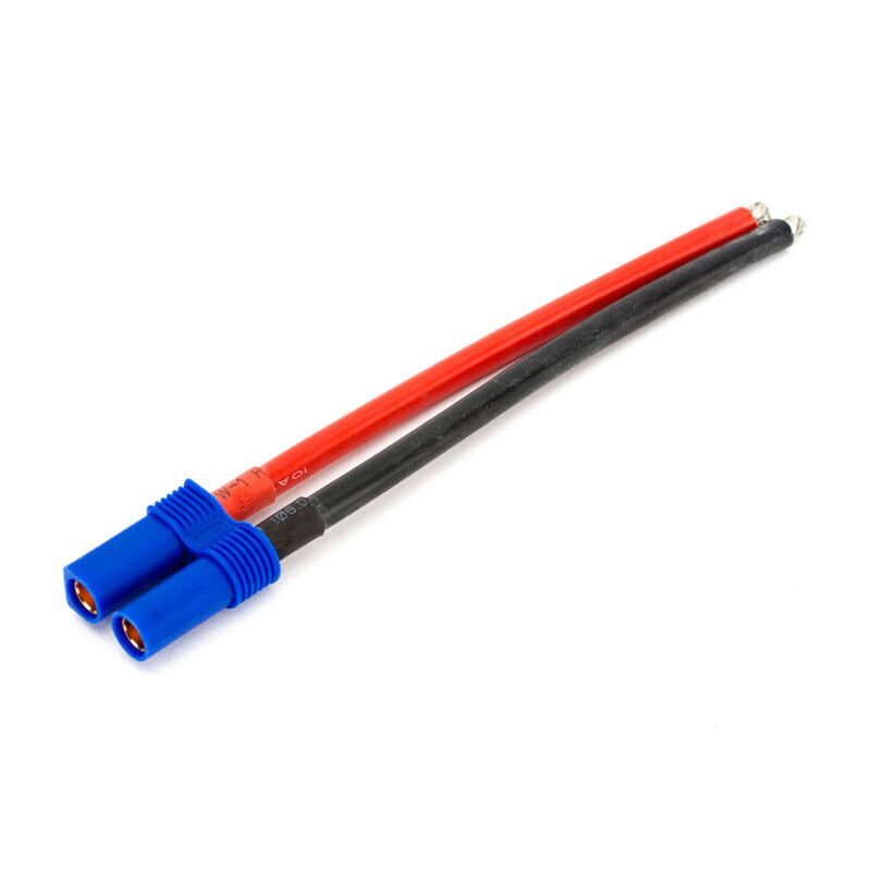 """Connector: EC5 Battery with 4"""" Wire, 10 AWG"""