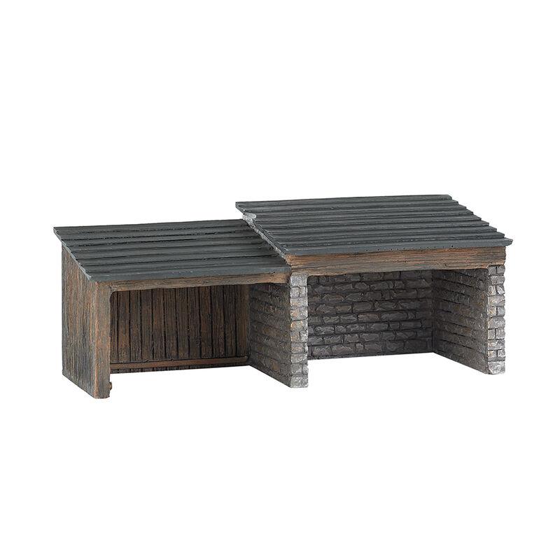 HO Building Front Storage Shed