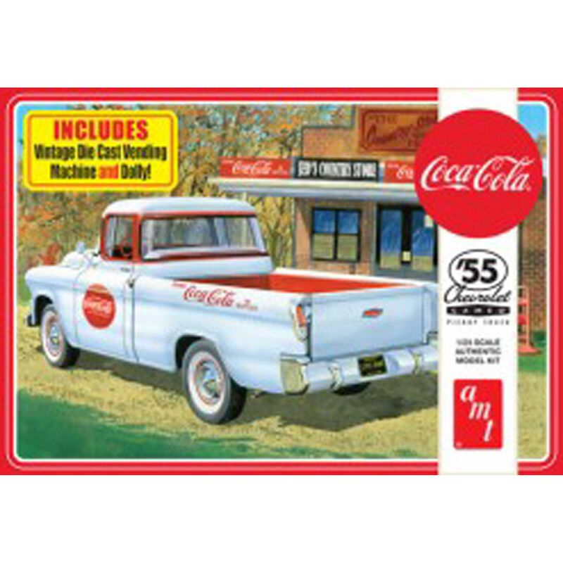 1 25 1955 Chevy Cameo Pickup Coca-Cola