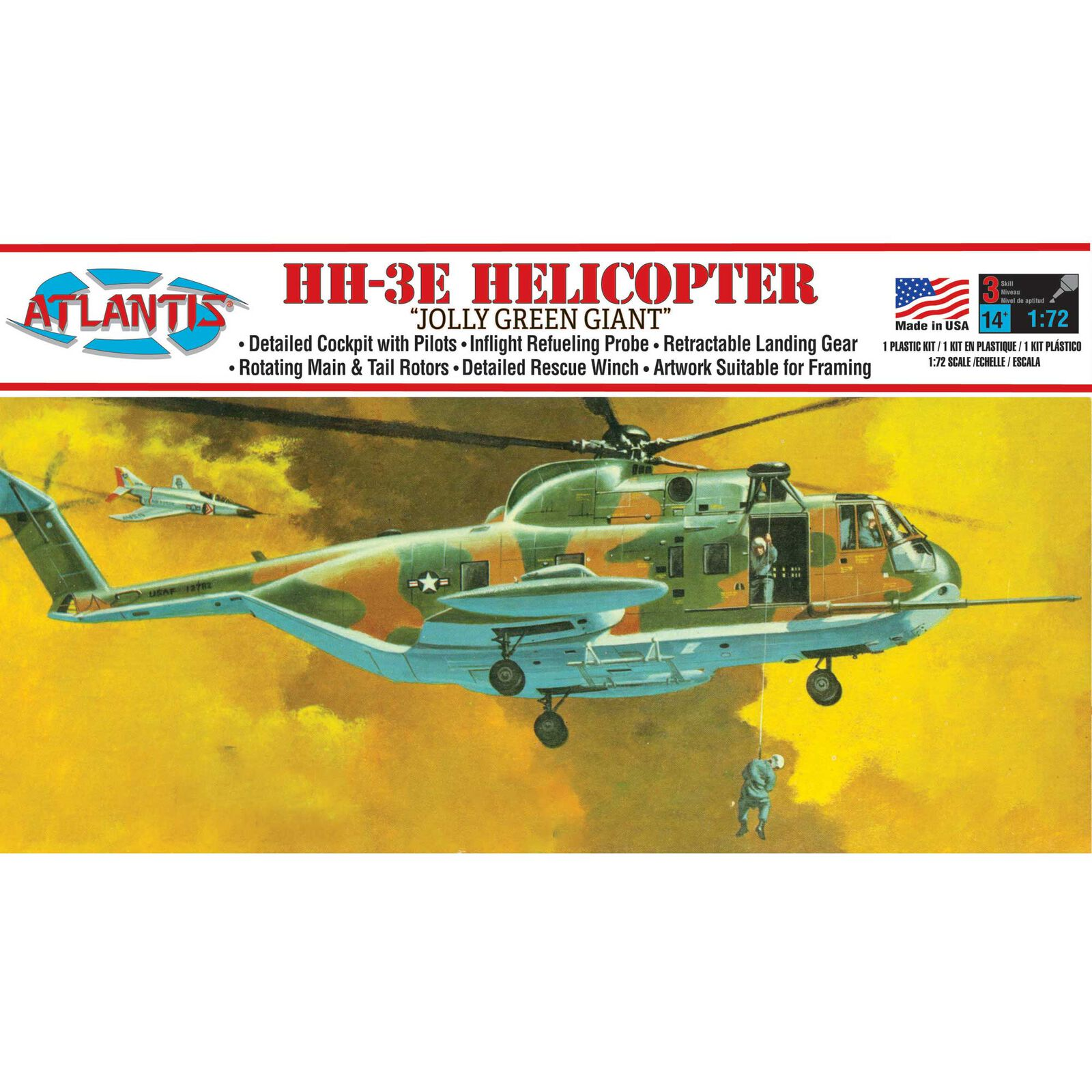 HH-3E Jolly Green Giant Helicopter 1/72 Model Kit