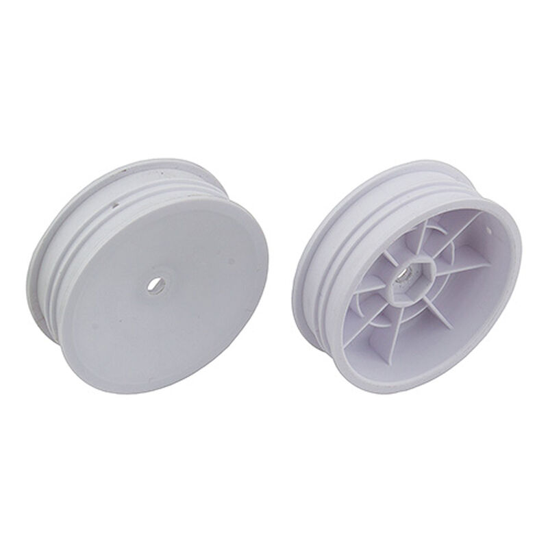 1/10 12mm Hex 2.2 Slim Front Buggy Wheels (2), White: B6