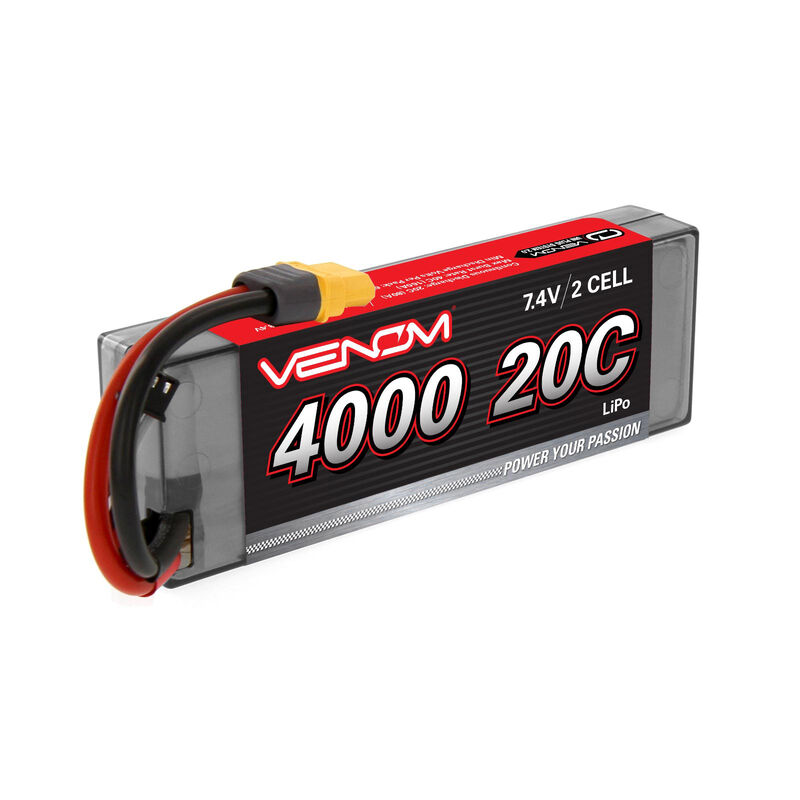 7.4V 4000mAh 2S 20C DRIVE LiPo Battery: UNI 2.0 Plug