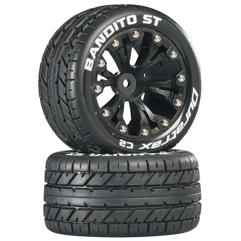 """Bandito ST 2.8"""" 2WD Mounted Rear C2 Tires, Black (2)"""