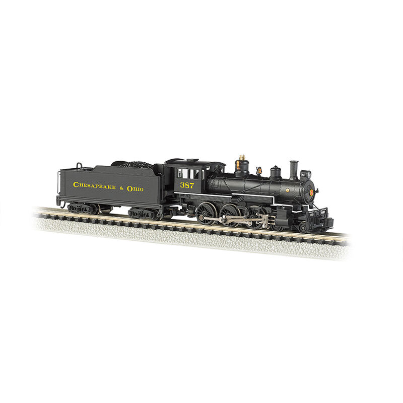N 4-6-0 w/DCC, C&O/Black/Yellow #387