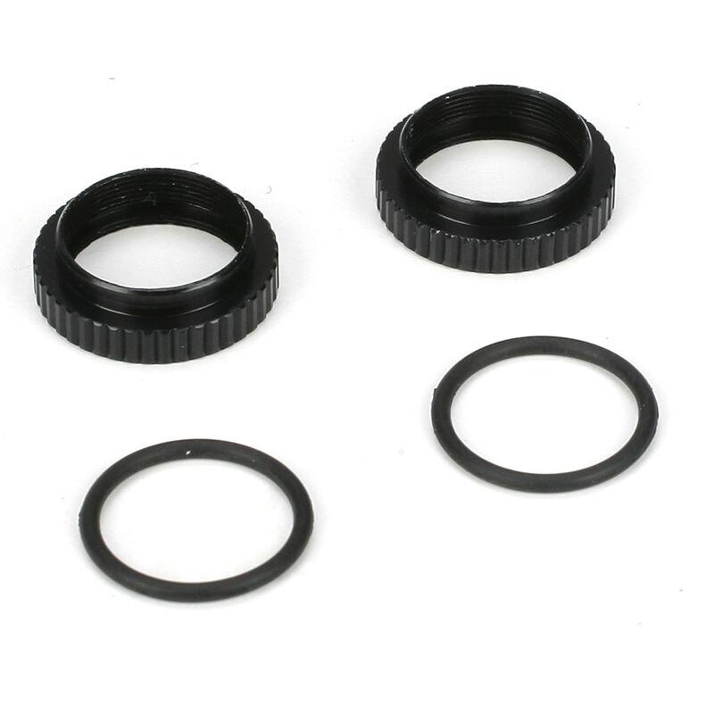 Shock Preload Adjuster Nut w/ O-rings: 22/22-4