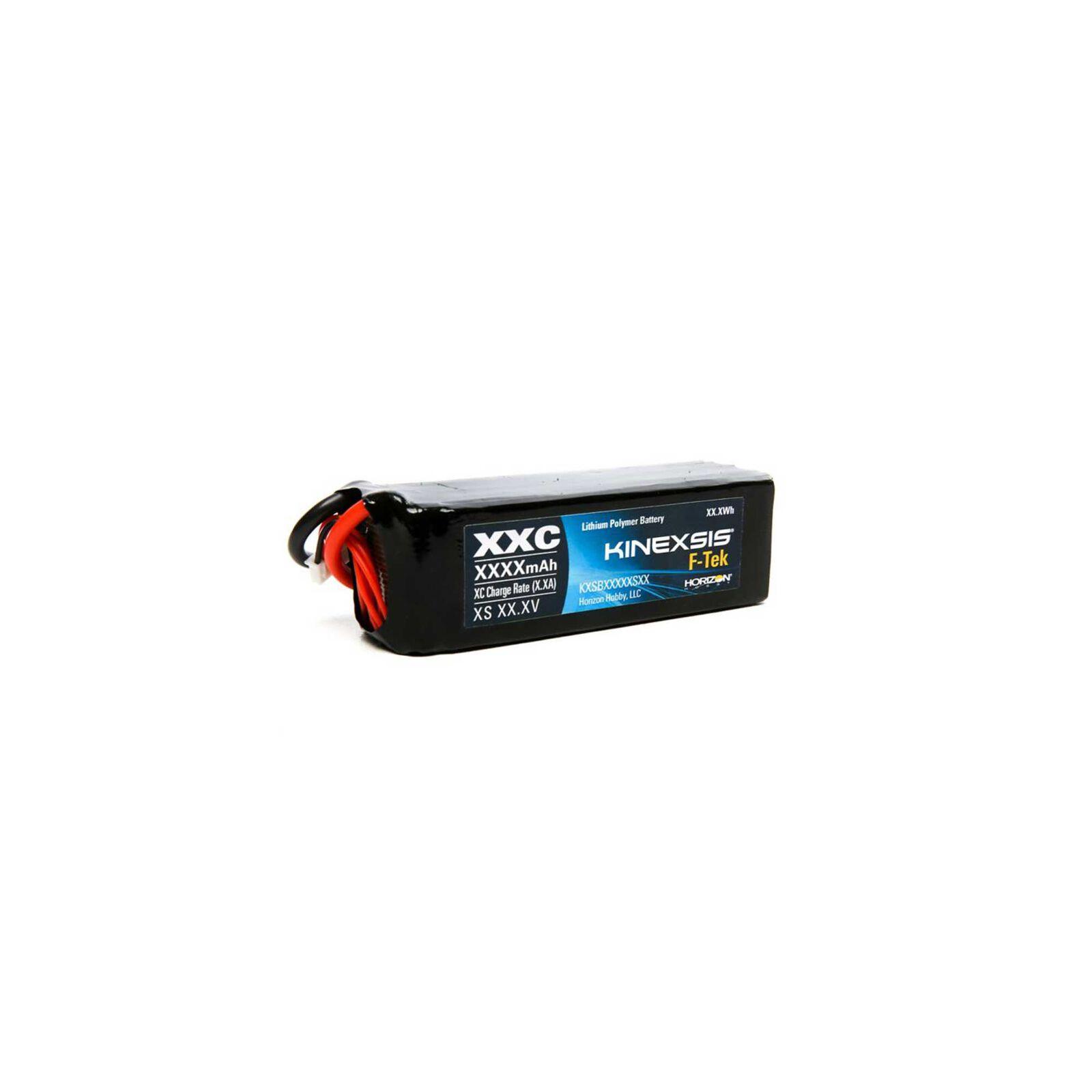 11.1V 5000mAh 3S 30C F-Tek Hardcase LiPo Battery: EC3