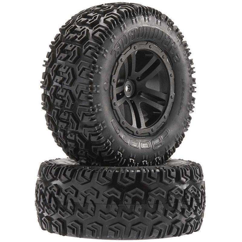 1/10 Sidewinder 2 SC 2.2/3.0 Pre-Mounted Tires, 12mm Hex, Black (2)