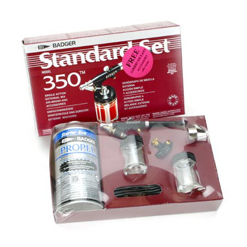 350 Airbrush Set with Propellant