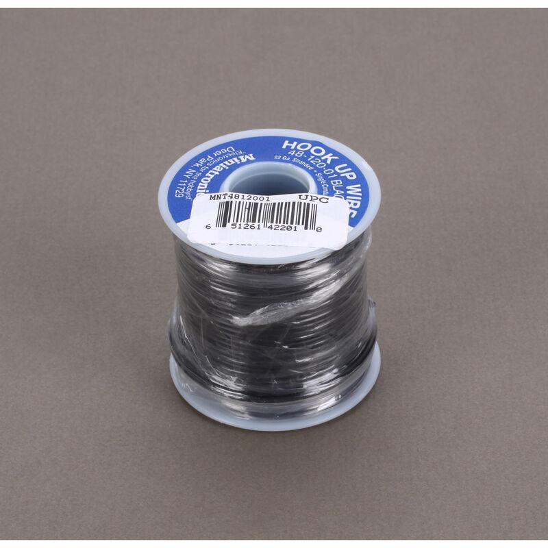 100' Stranded Wire 22 Gauge, Black