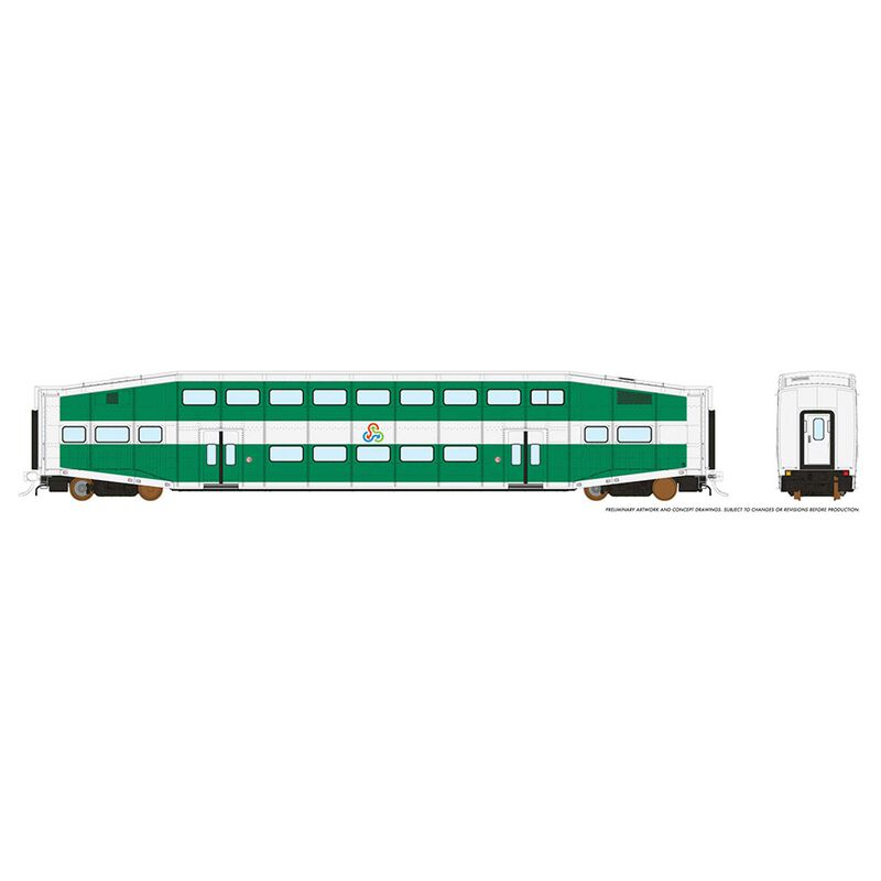HO BiLevel Commuter Car - TriRail Coach: UN#D