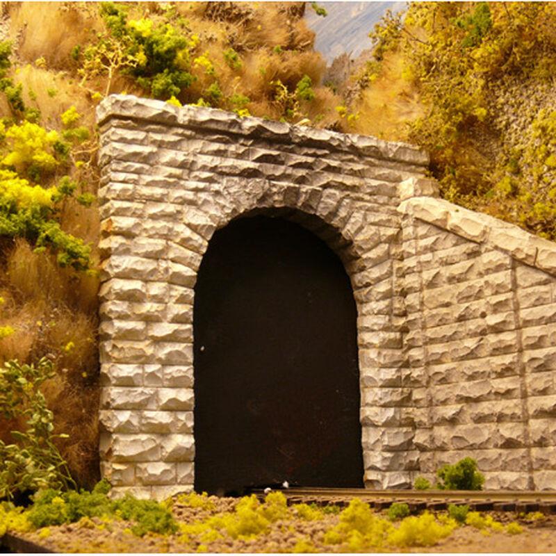 HO Single Cut Stone Tunnel Portal