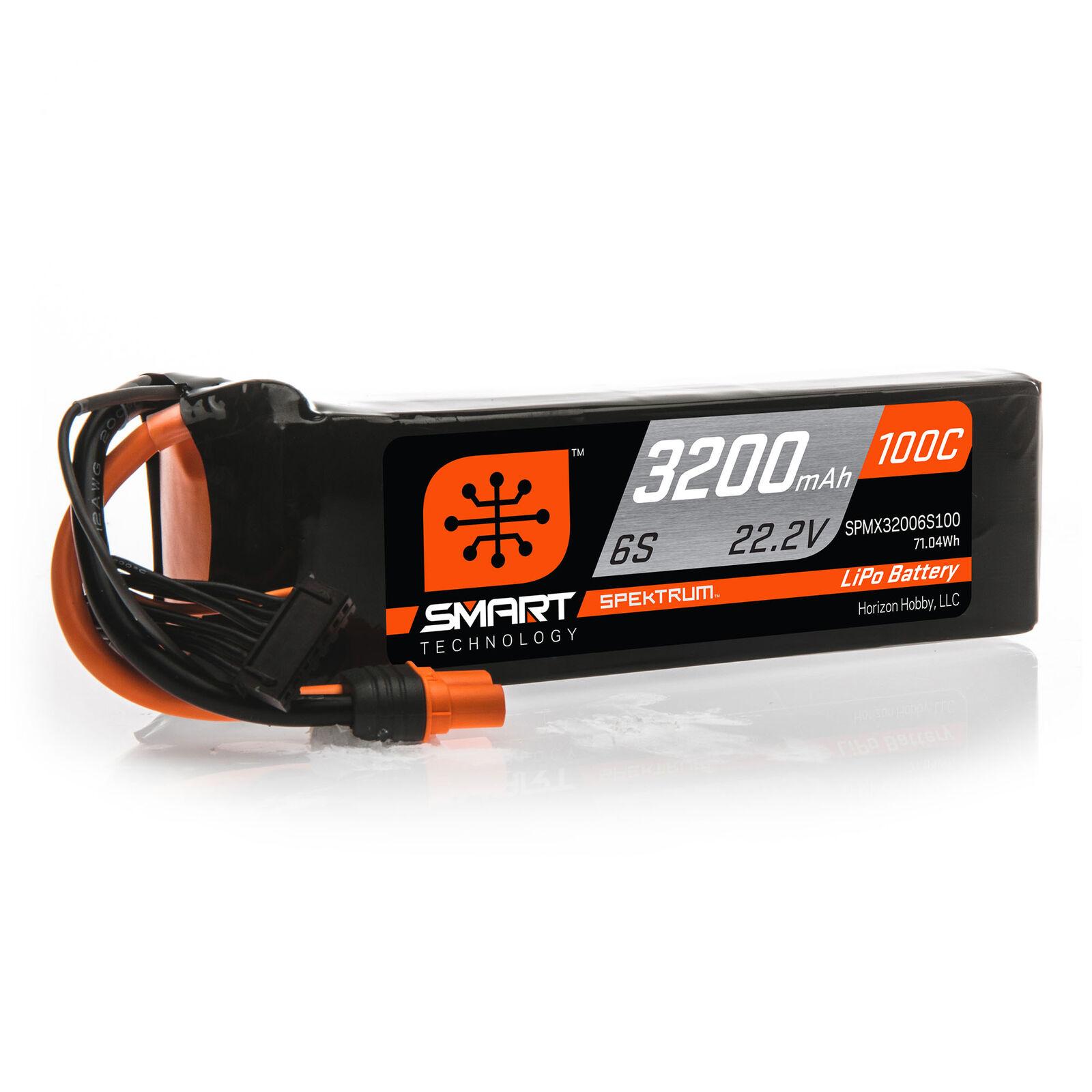 22.2V 3200mAh 6S 100C Smart LiPo Battery: IC5