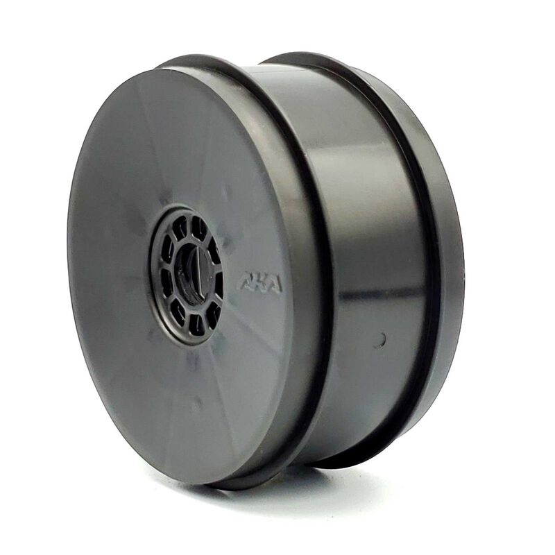 1/8 EVO Front/Rear Wheels, Black: Buggy (4 pcs)