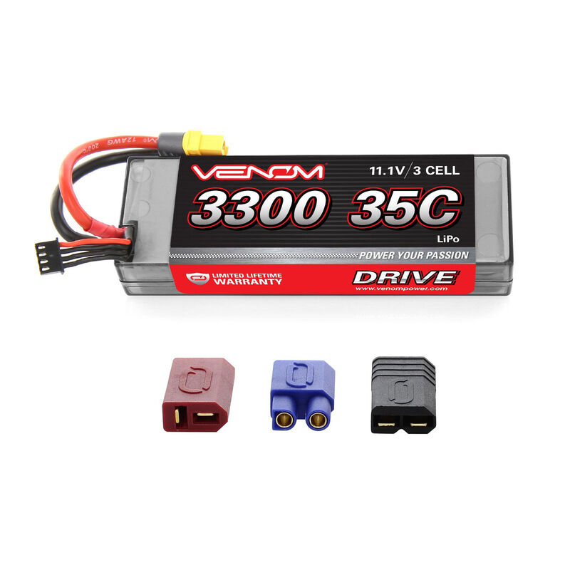 11.1V 3300mAh 3S 35C DRIVE LiPo Battery: UNI 2.0 Plug
