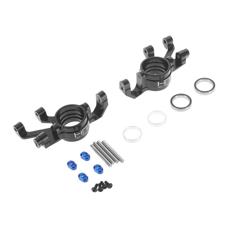 Aluminum Steering Blocks Triple Bearing Support: X-Maxx
