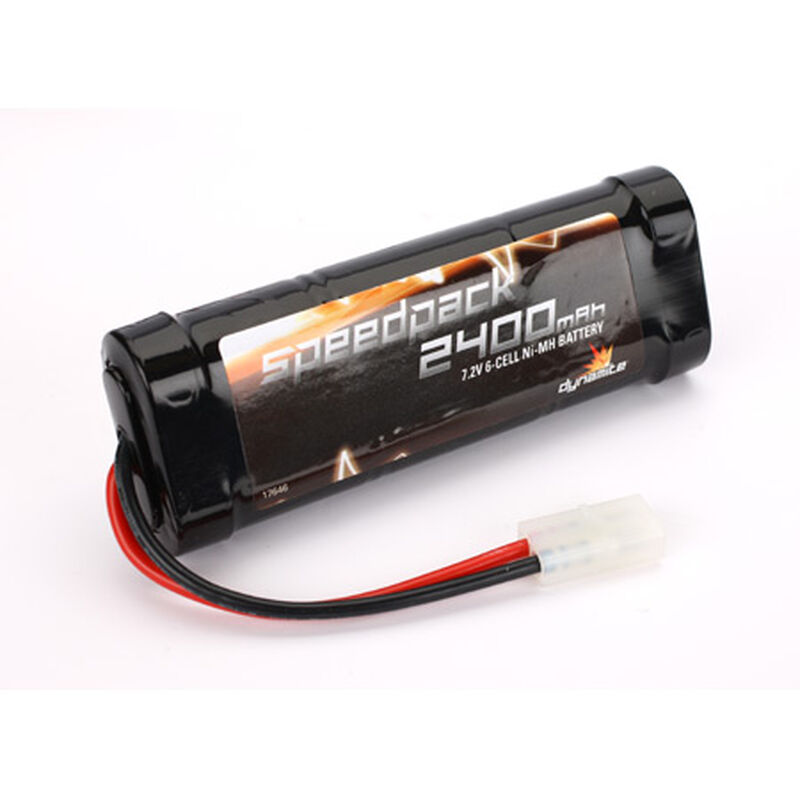 7.2V 2400mAh 6-Cell Speedpack Flat NiMH Battery: Tamiya Connector